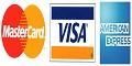 Visa Mastercard American Express Accepted