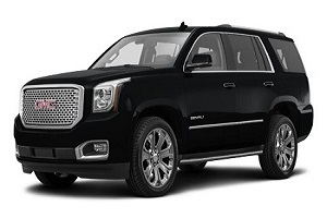 gmc yukon denali limo rental fleet vehicle