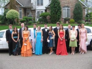 prom limousine service guests